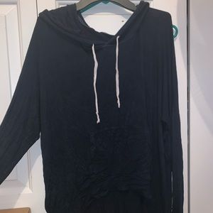 navy long sleeve t shirt hoodie